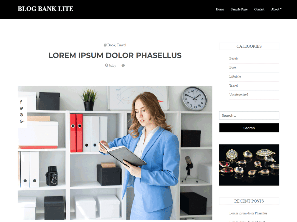 Blog Bank Lite WordPress Theme