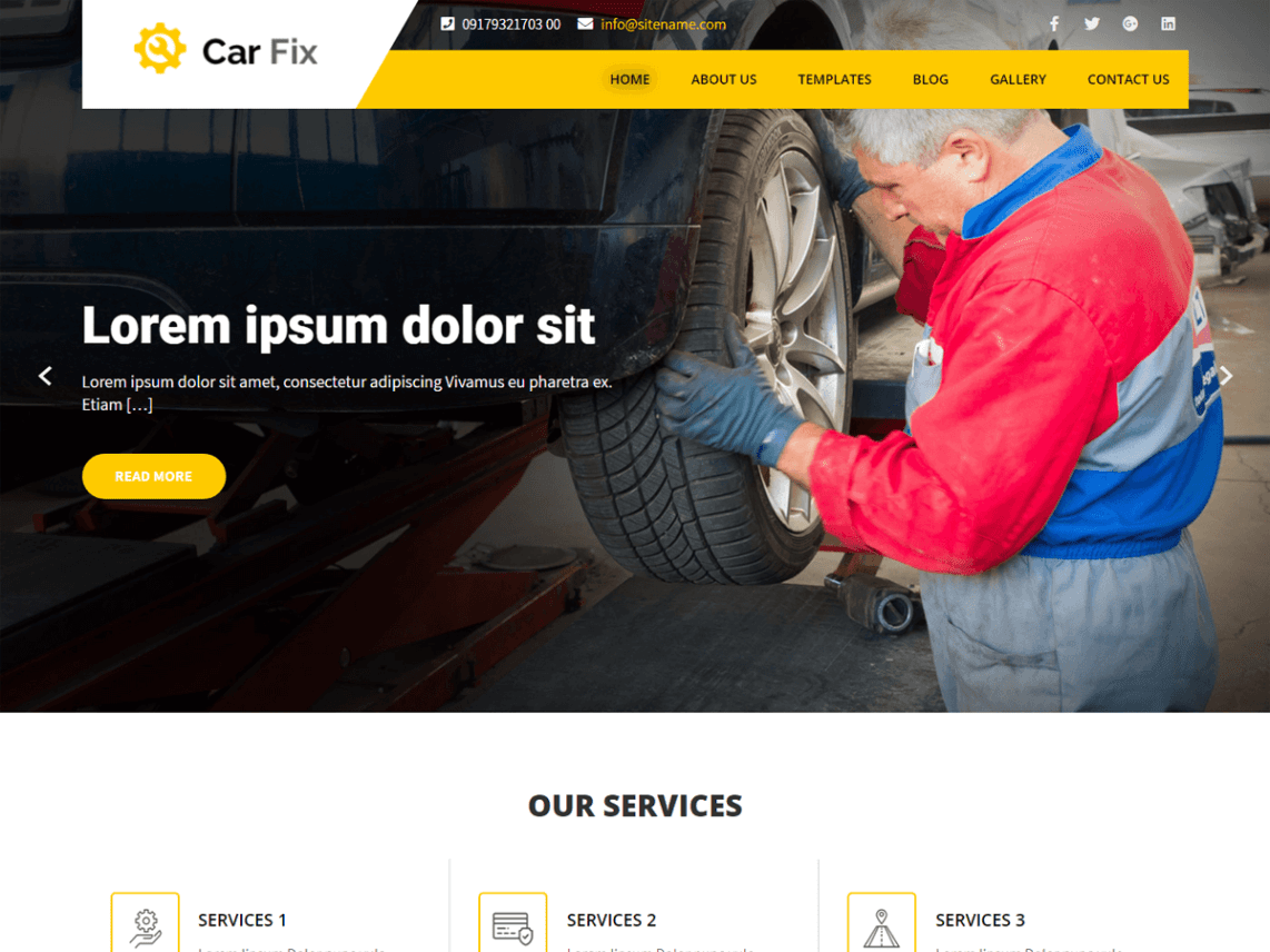 Car Fix Lite WordPress Theme