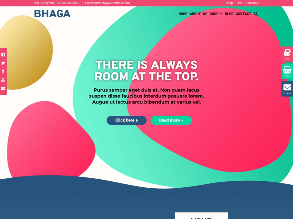 Bhaga WordPress Theme