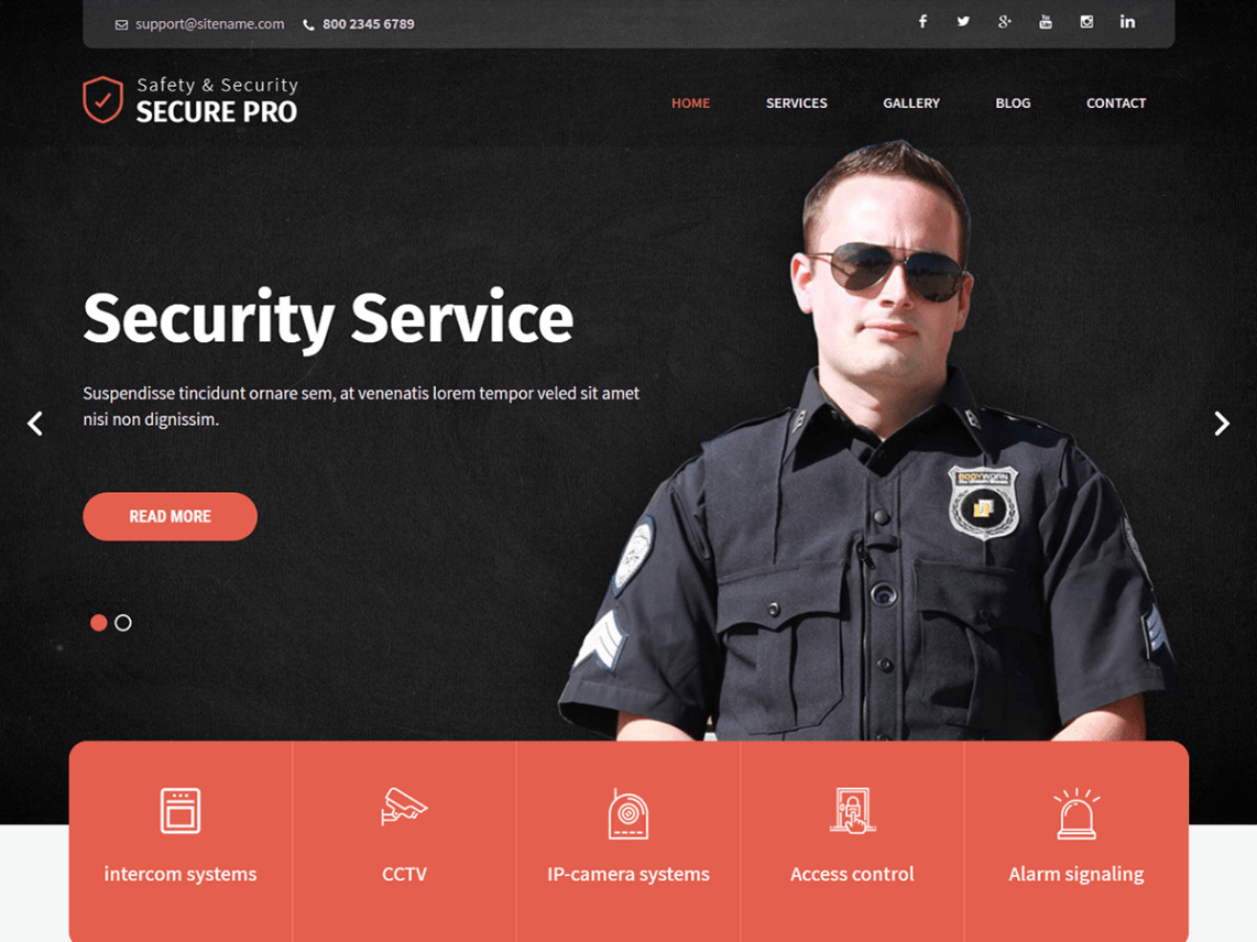 SKT Secure WordPress Theme