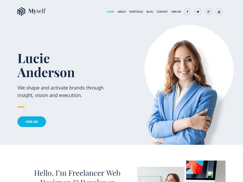 Myself WordPress Theme