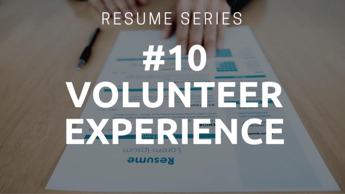 Resume Volunteer Experience