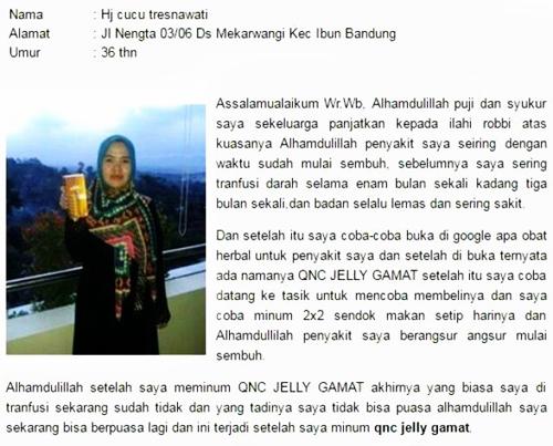 Obat Polip Rahim QnC Jelly Gamat
