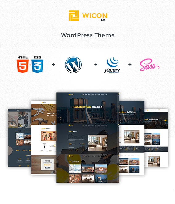 Wicon Construction & Building WordPress Theme