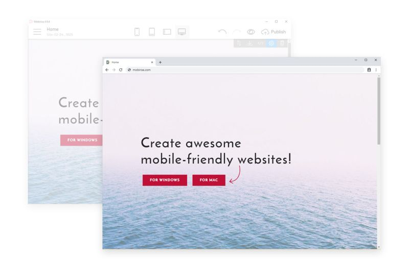 Mobirise is an easy and simple free website builder