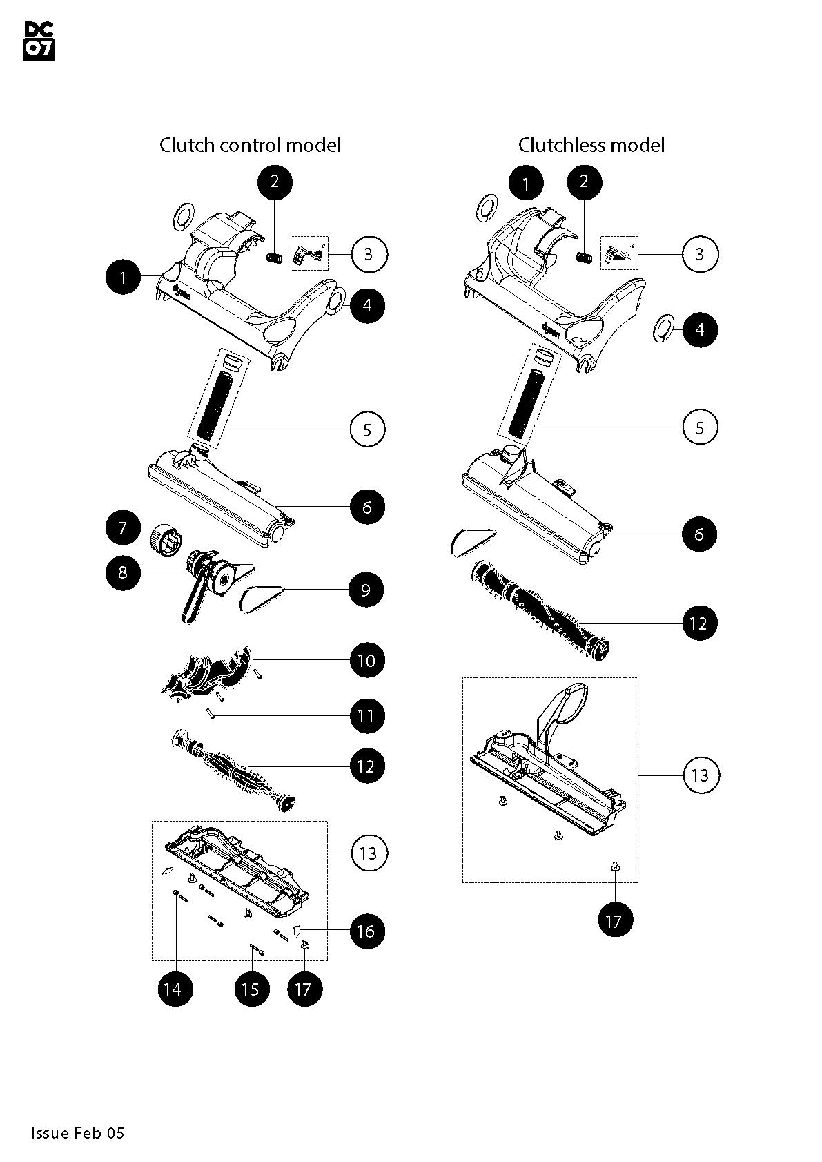 Dyson Dc07 All Floors Parts