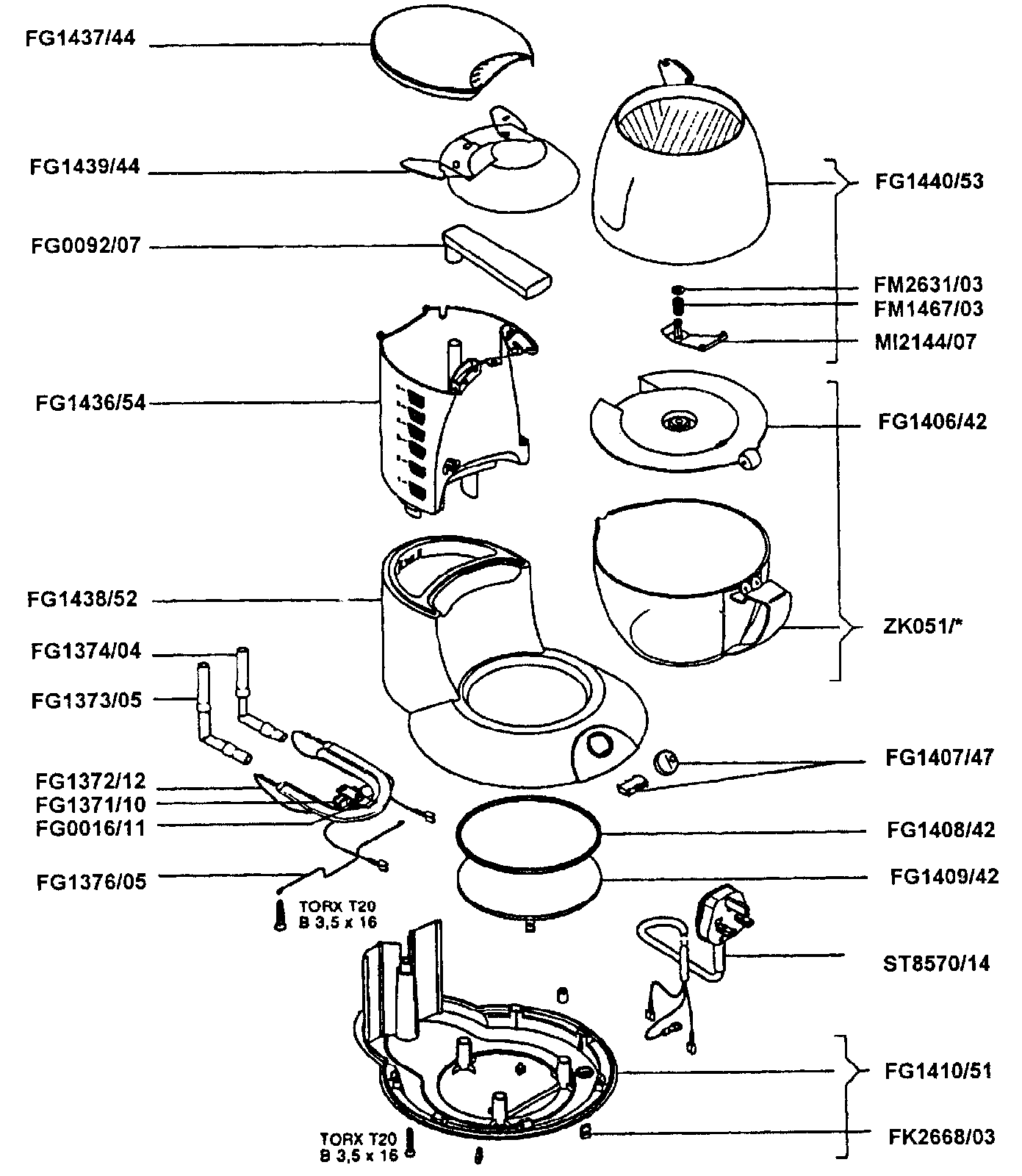 Coffee Machine Exploded View