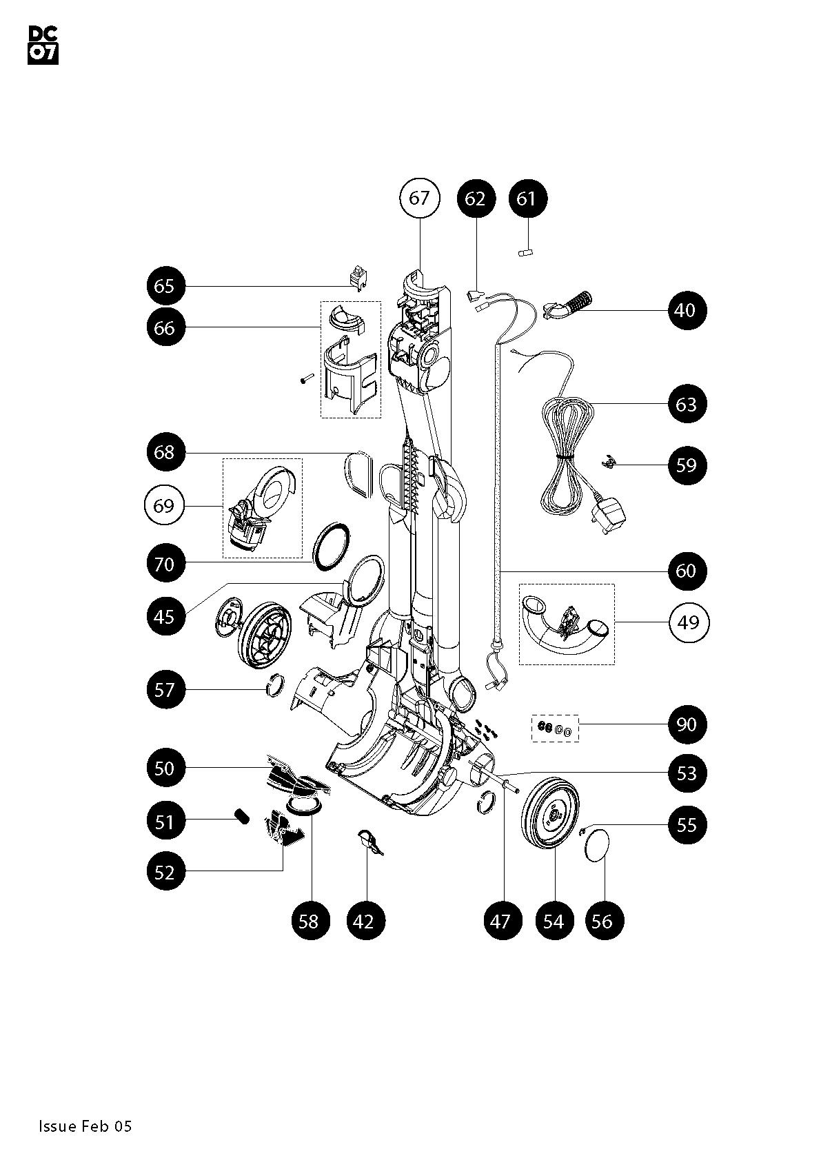 Dyson Animal Parts Diagram Dc14