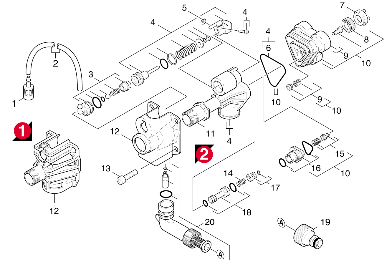 Karcher K4 Spare Parts Diagram