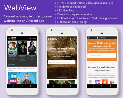 Android App Builder - WebView, WordPress, YouTube & much more - 2