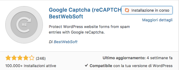 google captcha ( reCAPTCHA ) plugin wordpress
