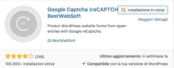 google captcha ( reCAPTCHA ) plugin wordpress