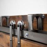 Bypass Sliding Barn Door Hardware Kit Rustica