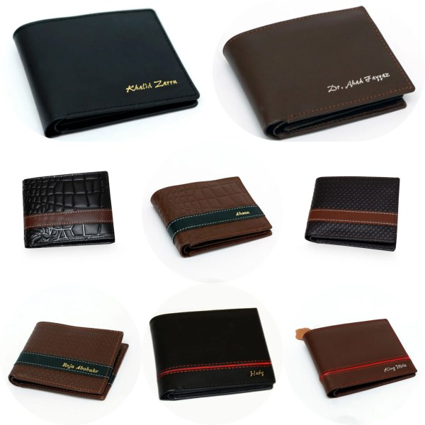Customized leather wallet name