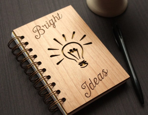 Wooden Engraved Notebook