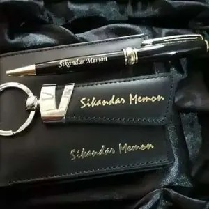 name customize Wallet keychain pen set