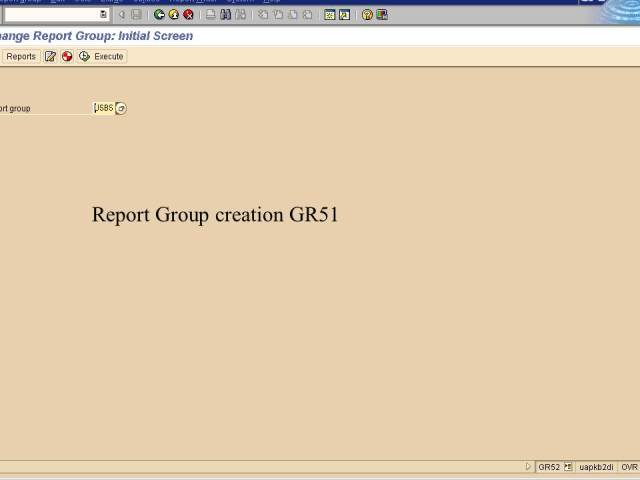 20. Report group creation