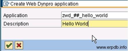 Creating Webdynpro App6