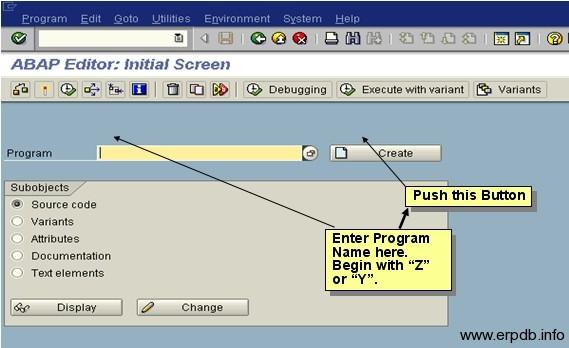 Create Program in SAP ABAP 1