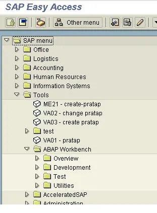 ABAP Workbench Layout