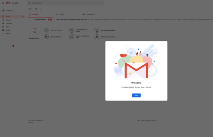 Congratulation---Welcome to your new Gmail Account...