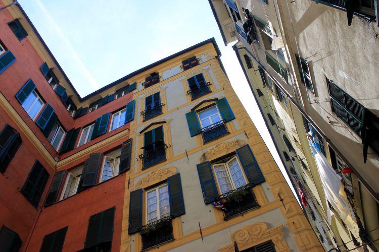 Tall buildings - Genoa, Italy
