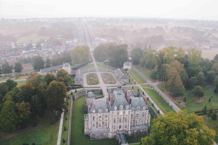 chateau balleroy hot air balloon