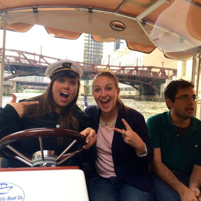 We're on a boat!