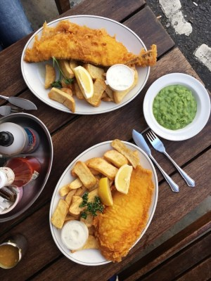London fish and chips at Rock and Sole Plaice