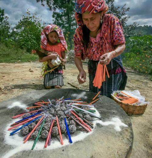 Mayan ceremony in Guatemala