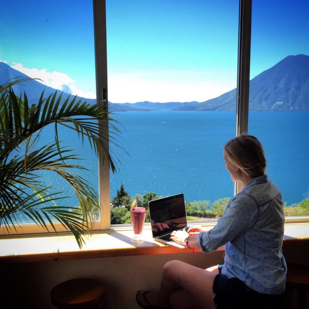 Travel Writer At Work in Guatemala