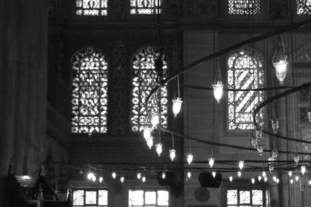 Istanbul lights Black and White photos