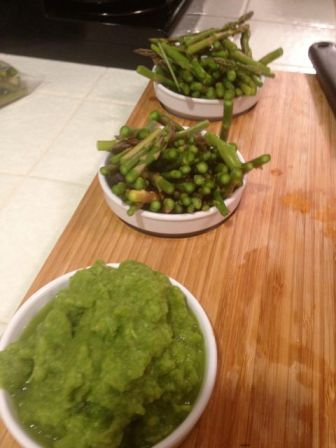 asparagus puree and tips