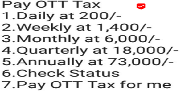 Pay OTT tax