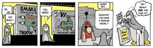 A Cartoon strip on editors