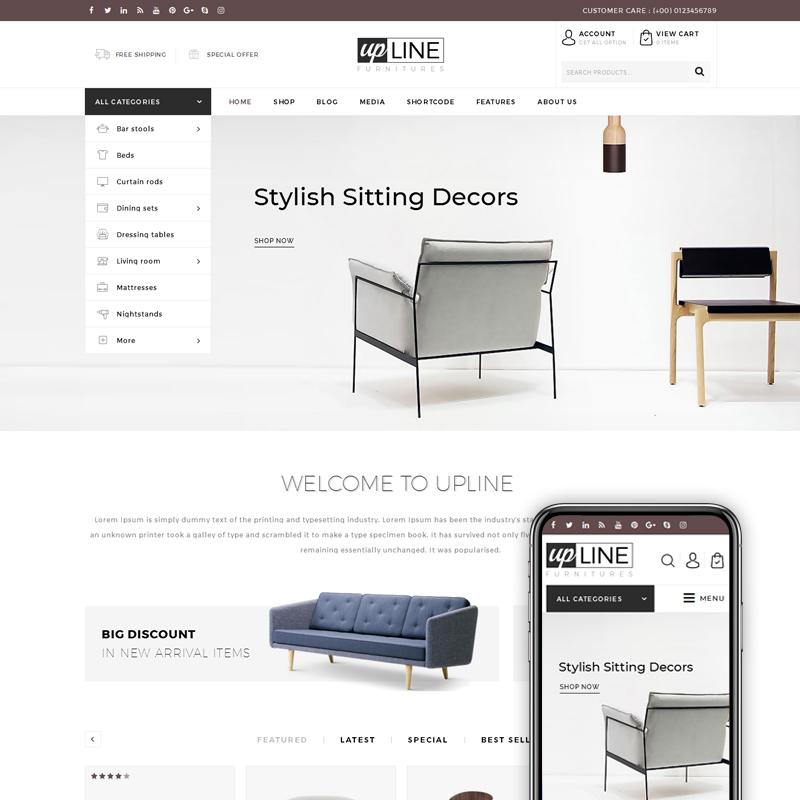 UpLine - Furniture Online Store WooCommerce Theme