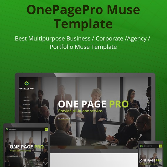OnePagePro Muse Template