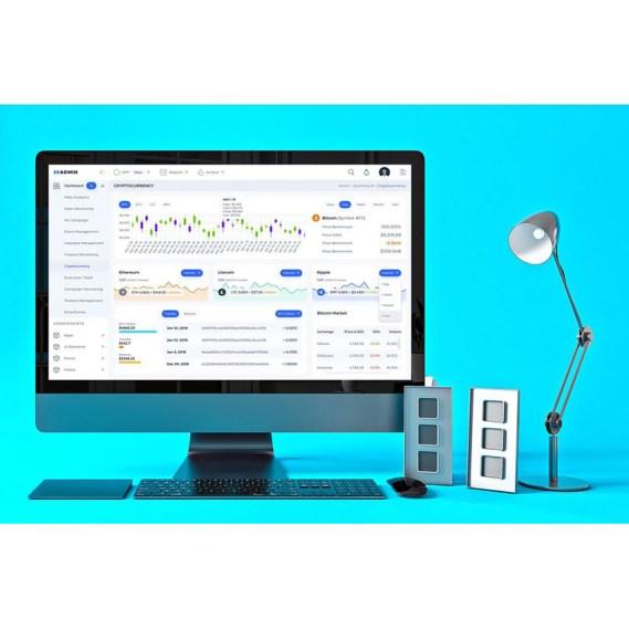 Cryptocurrency Admin Dashboard UI UI Elements