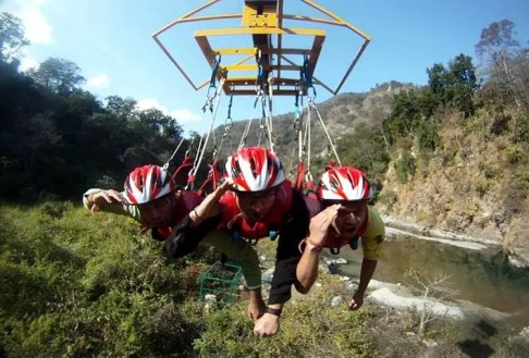 Flying Fox And Giant Swing at Rishikesh
