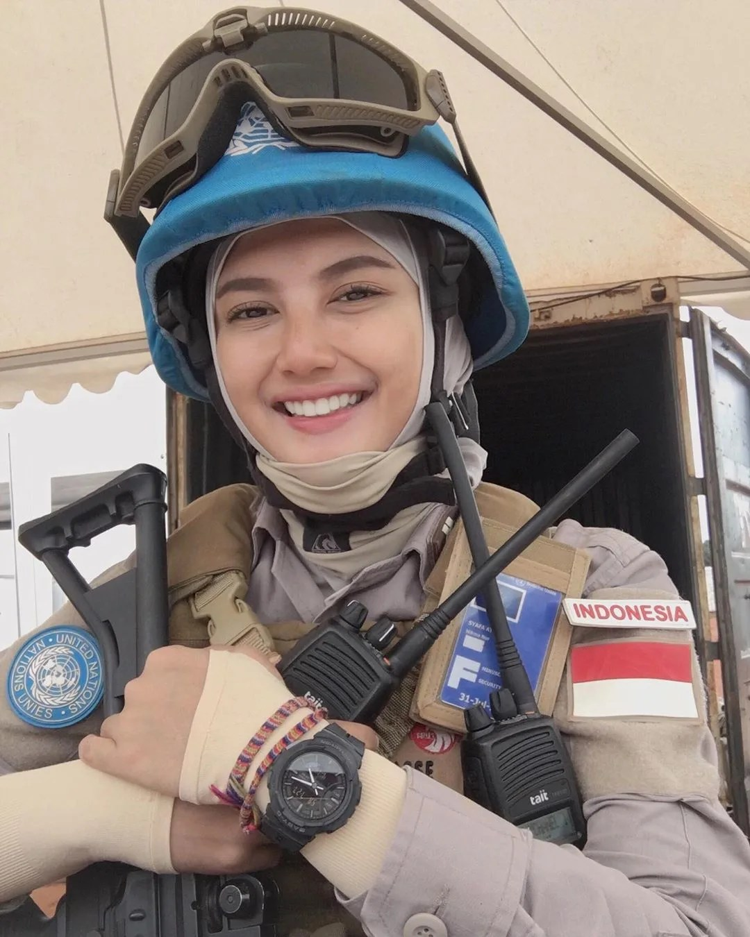 polwan Viral, Brigadier Imah Beautiful Policewoman Looks Like Indonesian Artist Pevita Pearce