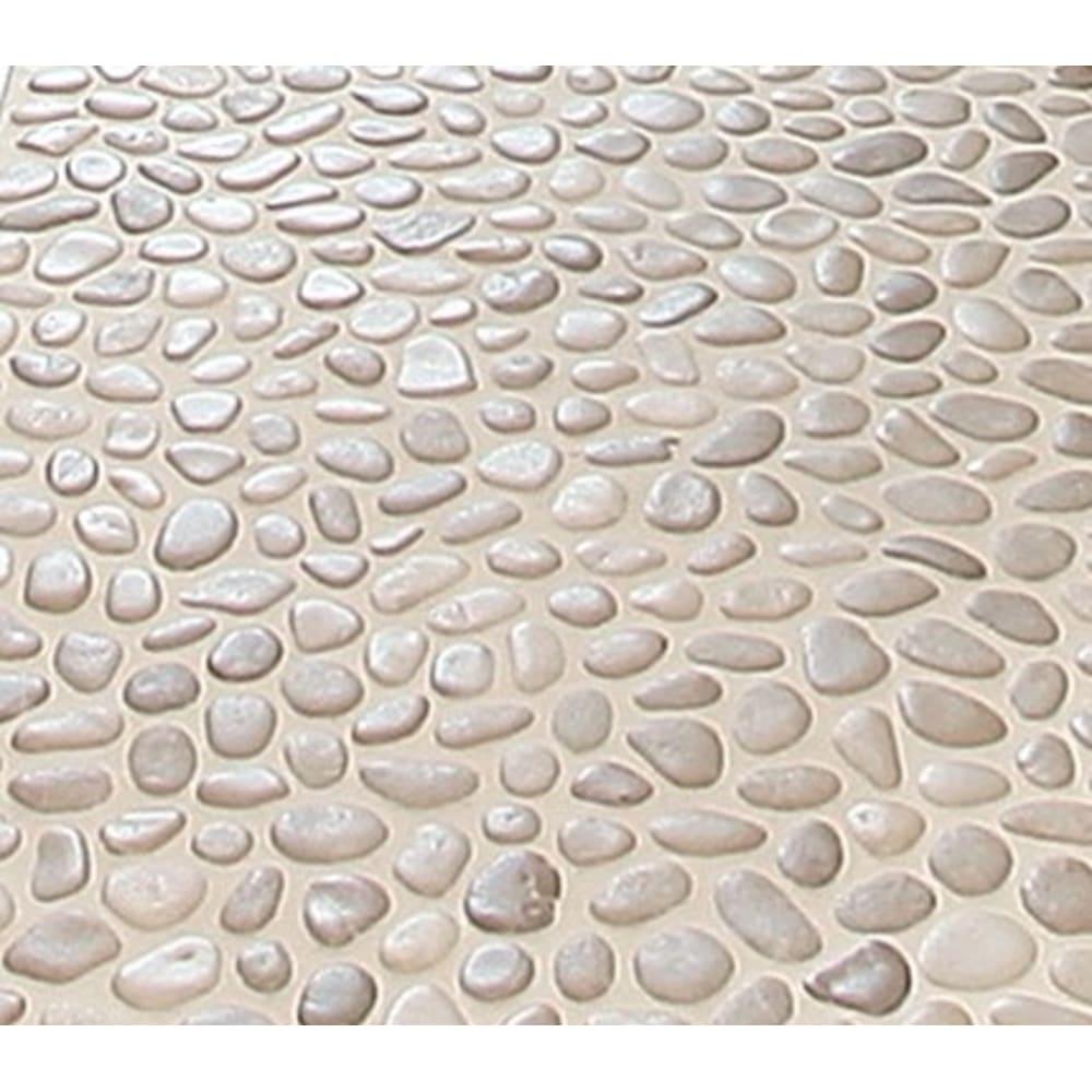 zen fiji cream flat pebble 12 x 12 mosaic