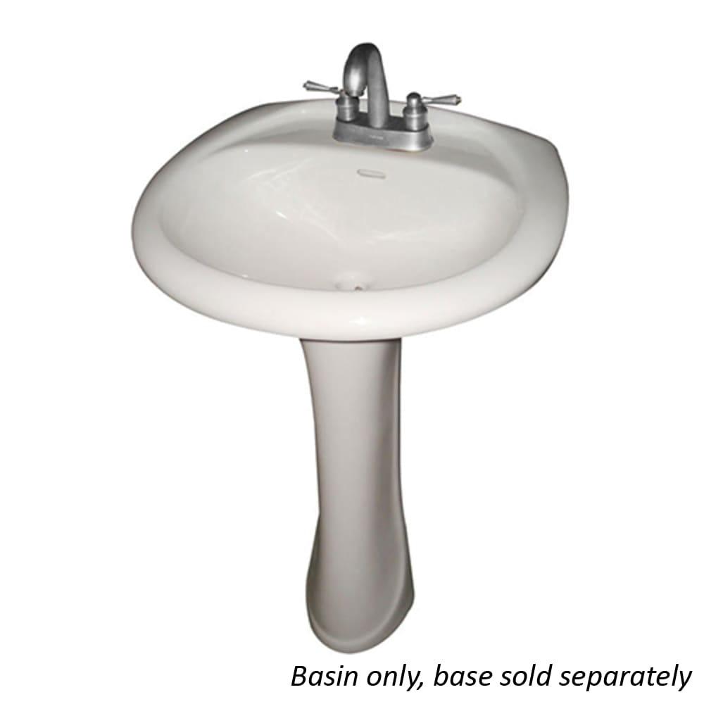 potomac white porcelain pedestal lavatory sink basin only