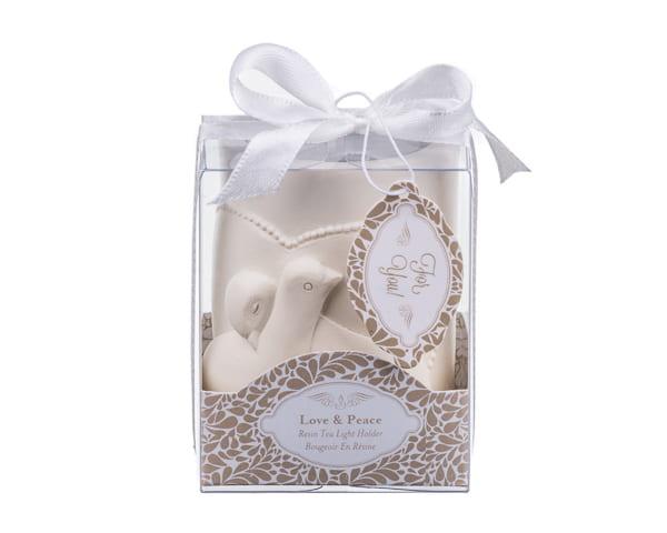 Love And Peace Dove Tea Light Candle Holder Favor Elegant Weddings