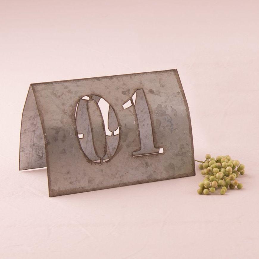 Laser Cut Self Standing Metal Table Number Set