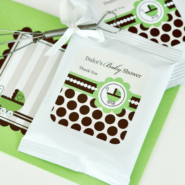 EB2003BG-Personalized Hot Cocoa + Optional Whisk Green Baby