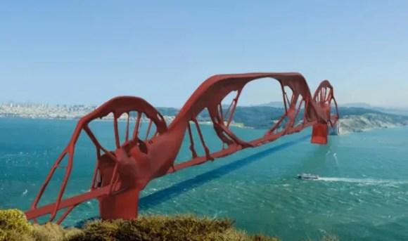 The Golden Gate Bridge, re-imagined with Fusion 360 Generative Design.
