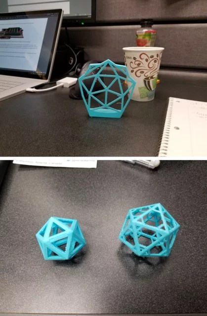 Engineering.com Geodesic V1 (top), V3 (bottom left) and V4 (bottom right).