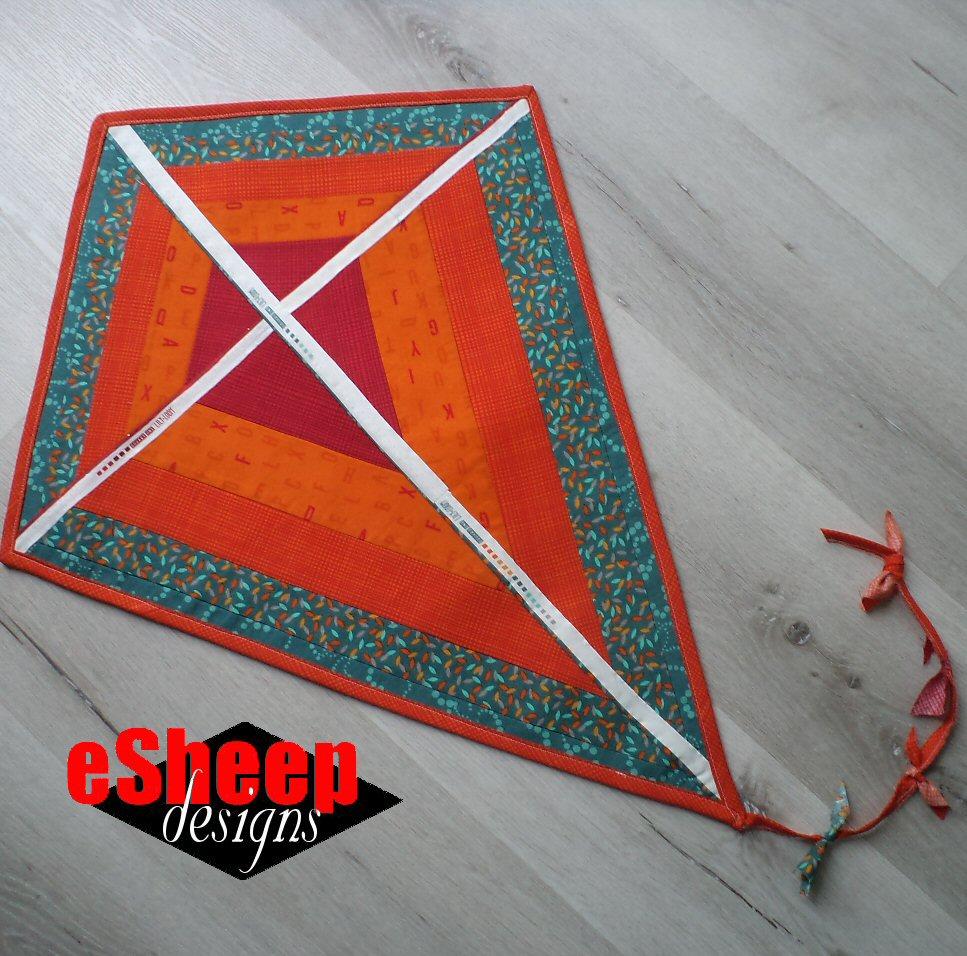 Fabric Kite Spring Wall Hanging - Sewing Tutorial