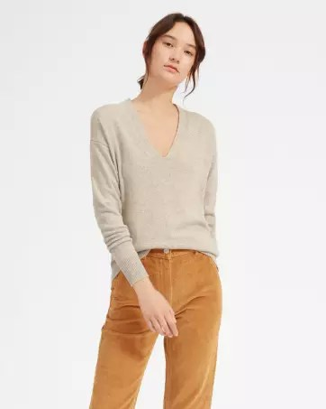 The Cashmere Oversized V-Neck - Everlane