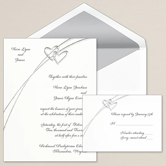 Response Card Sweet Love Hearts Wedding Invitations Iwi215